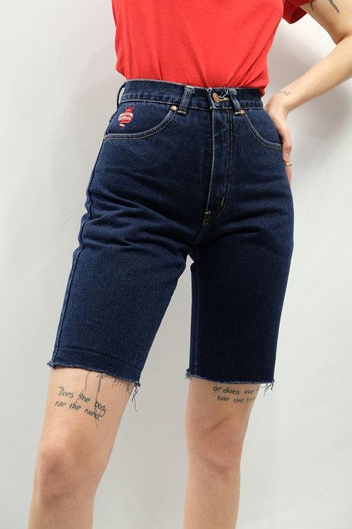 Vintage High Waist Jeans Bermudas  - XS