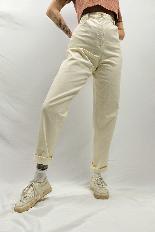 Vintage High Waist Mom Jeans  - XL