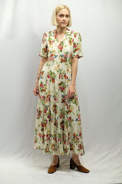 Vintage Blumenkleid  - S