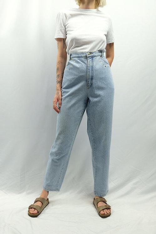 Vintage High Waist Mom Jeans  - XXXL