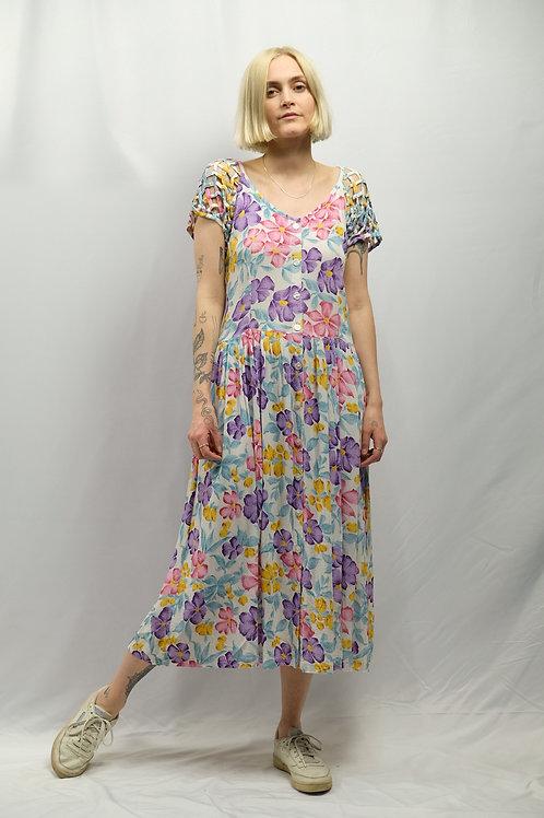 Vintage Blumenkleid  - M