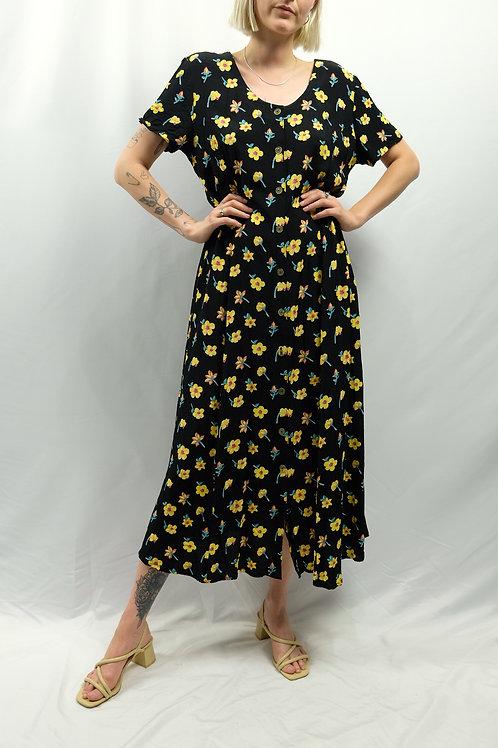 Vintage Blumenkleid  - L