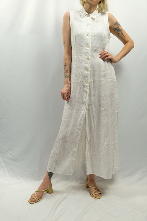 Vintage Leinenkleid  - S