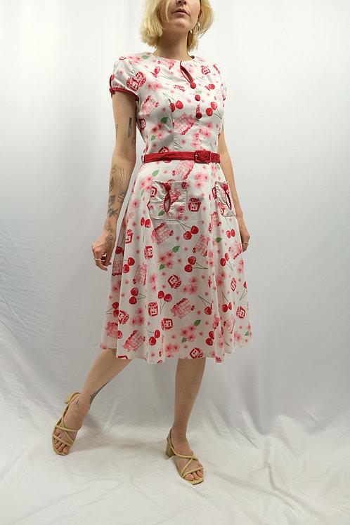 50s Look Rockabilly Kleid -S