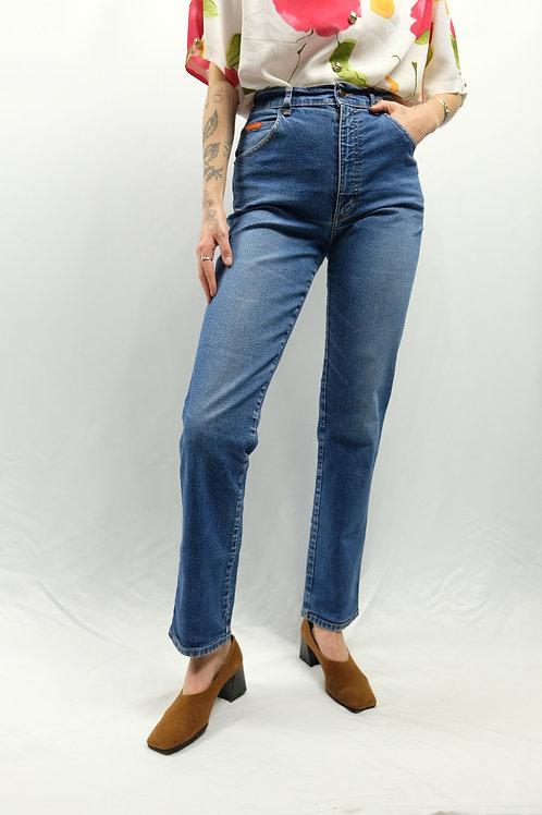 Vintage High Waist Straight Leg Jeans  - S