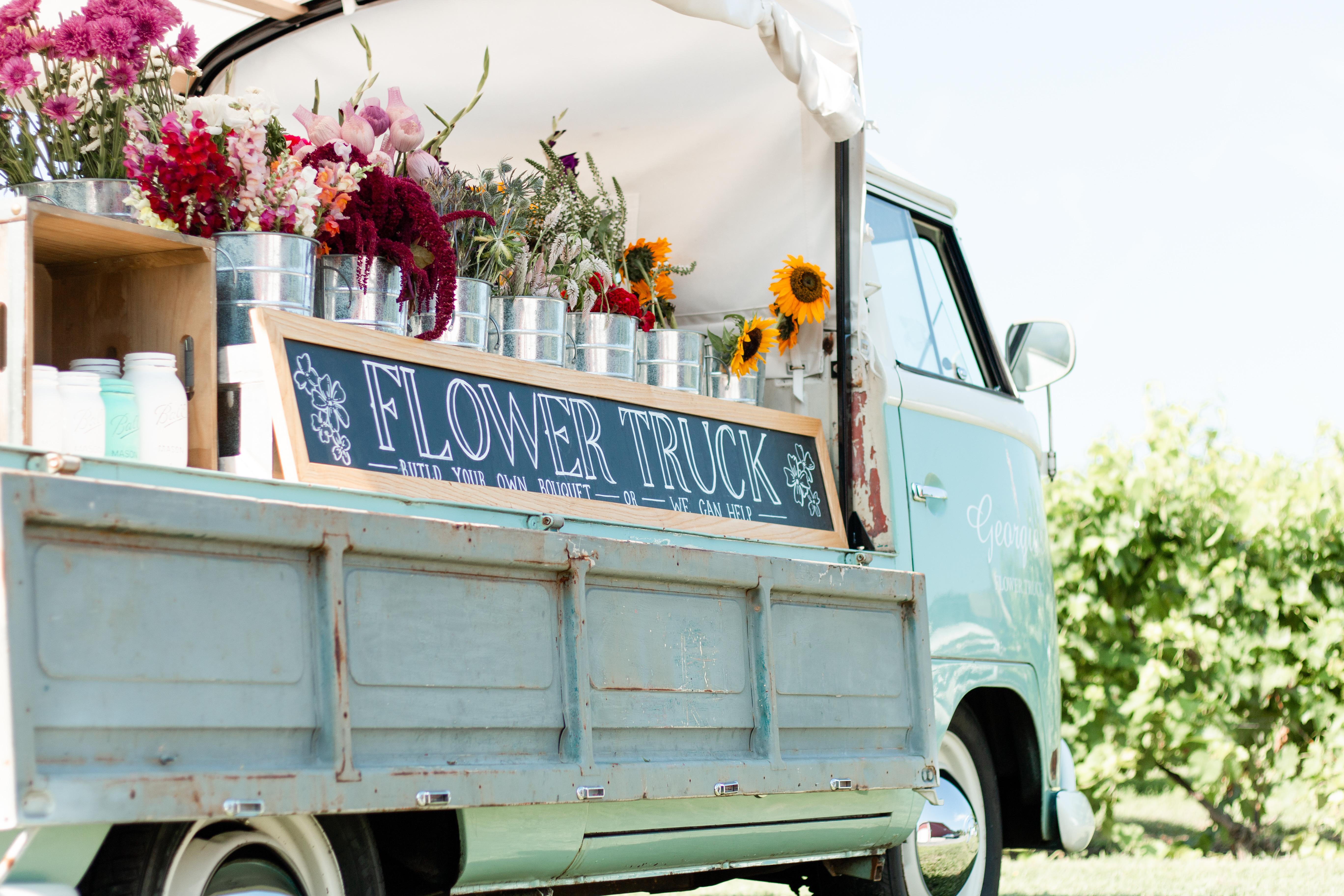 truck + flowers