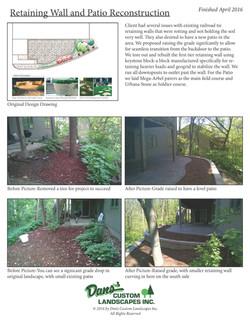 Retaining wall & patio 2