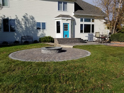 Raised Step entry and firepit