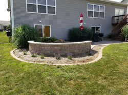 Seating Wall and Planting Bed
