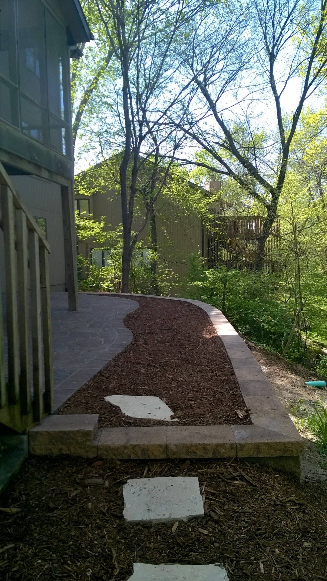 Retaining Wall and Raised Patio