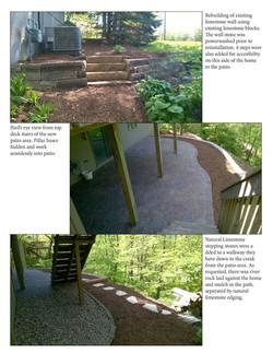 Retaining wall & patio