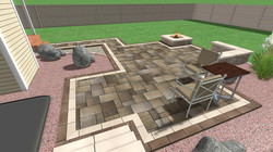 Design perspective - patio & steps