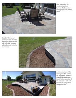 Outdoor living-raised patio 2