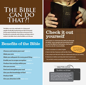 The Bible: The Bible can do that?!