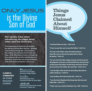 Only Jesus: is the Divine Son of God