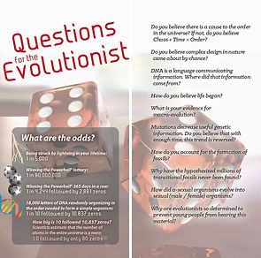 God: Questions for Evolutionists