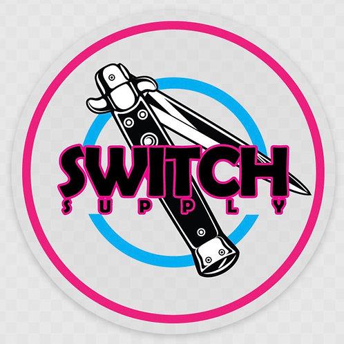 """3"""" Switch Dot logo - Clear Miami"""