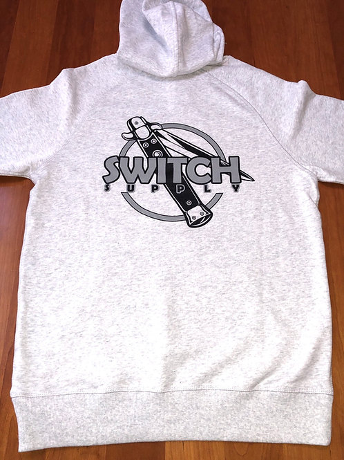 Switch logo French Terry Hoodie - White Heather
