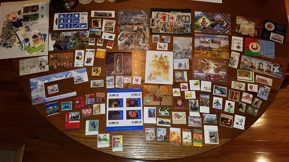 stamps purchased from all over Central and Eastern Europe