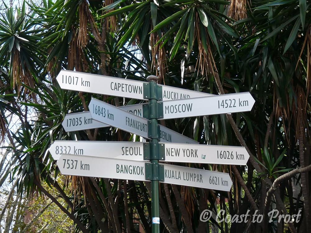 directional sign in Sydney, Australia