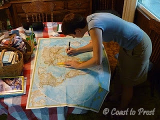Alethea mapping an around-the-world trip