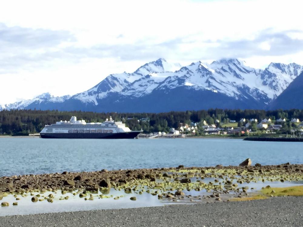 Holland America Lines Zaandam docked in Haines, Alaska