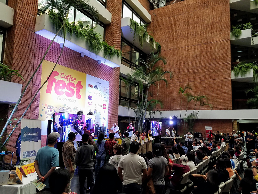 the atrium at Anacafe during Coffee Fest