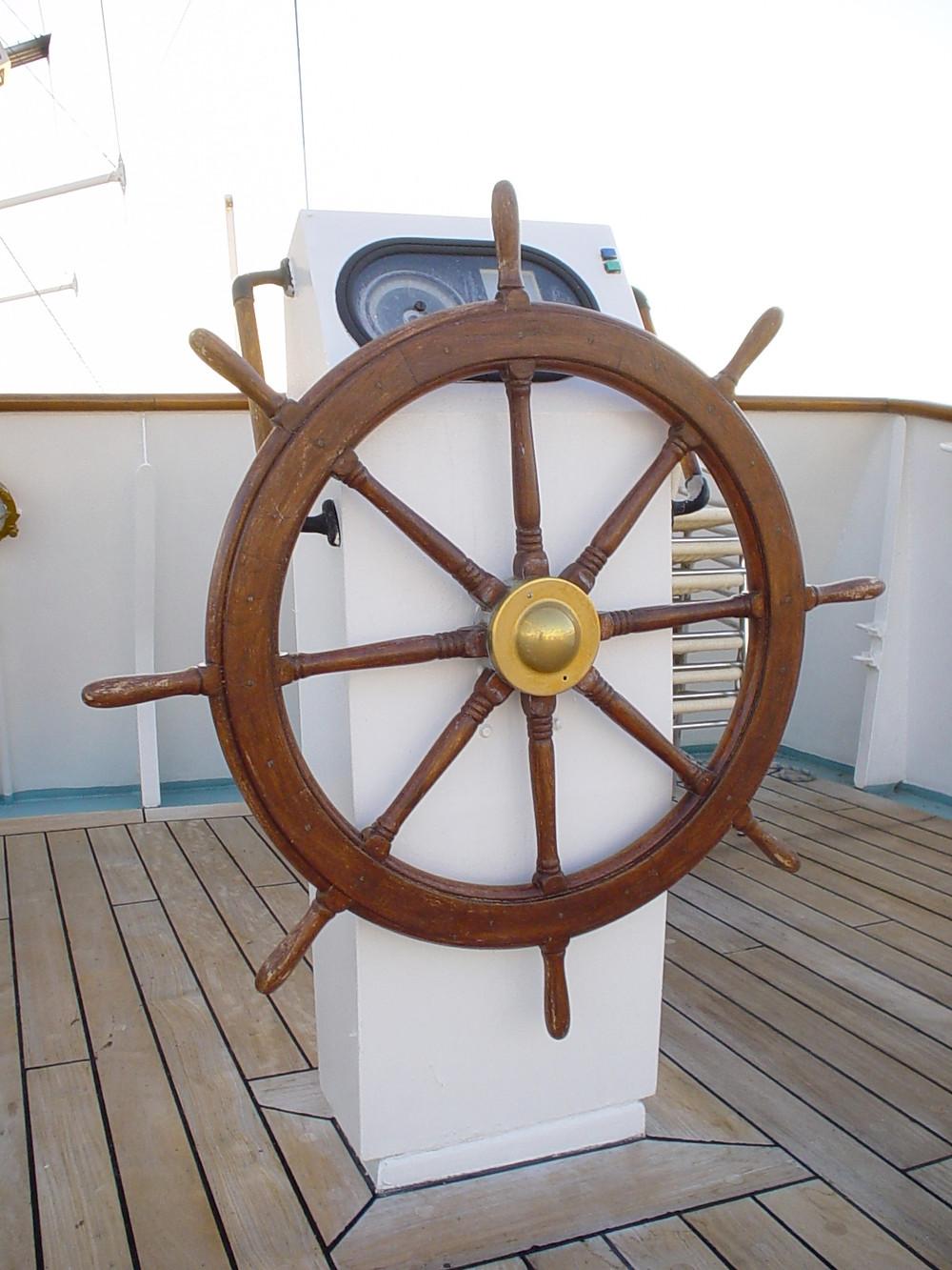 Windstar Spirit ship's steering wheel