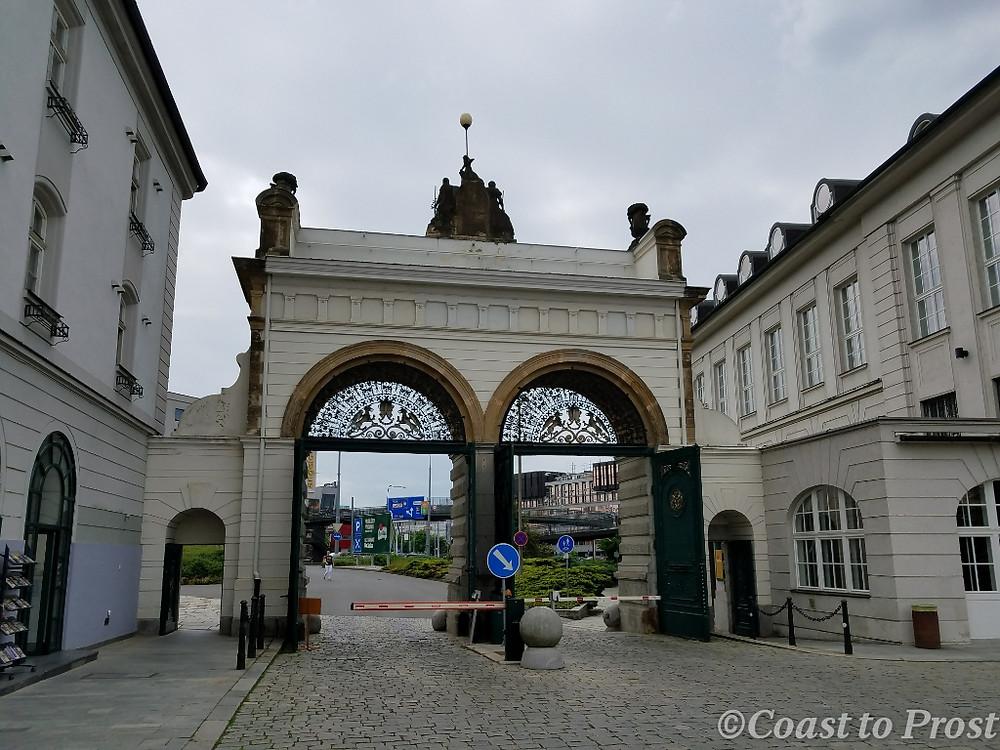 Jubilee gate and entrance to Plzensky Prazdroj