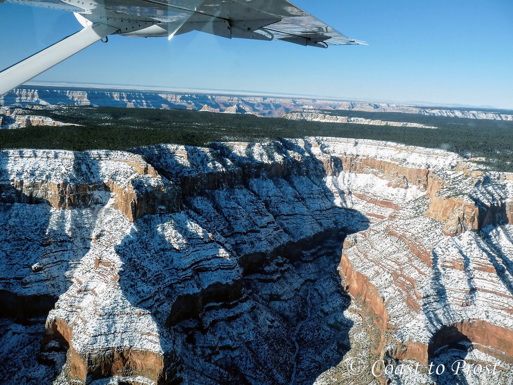 view of Grand Canyon from a Cessna airplane flying