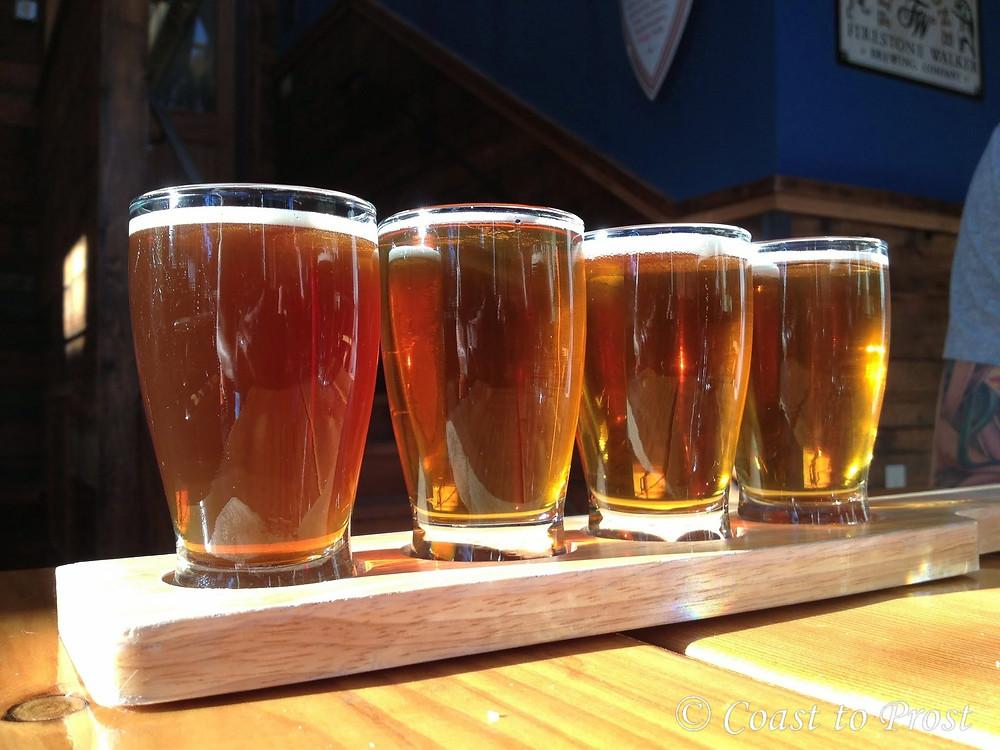 beer taster glasses golden ale lager