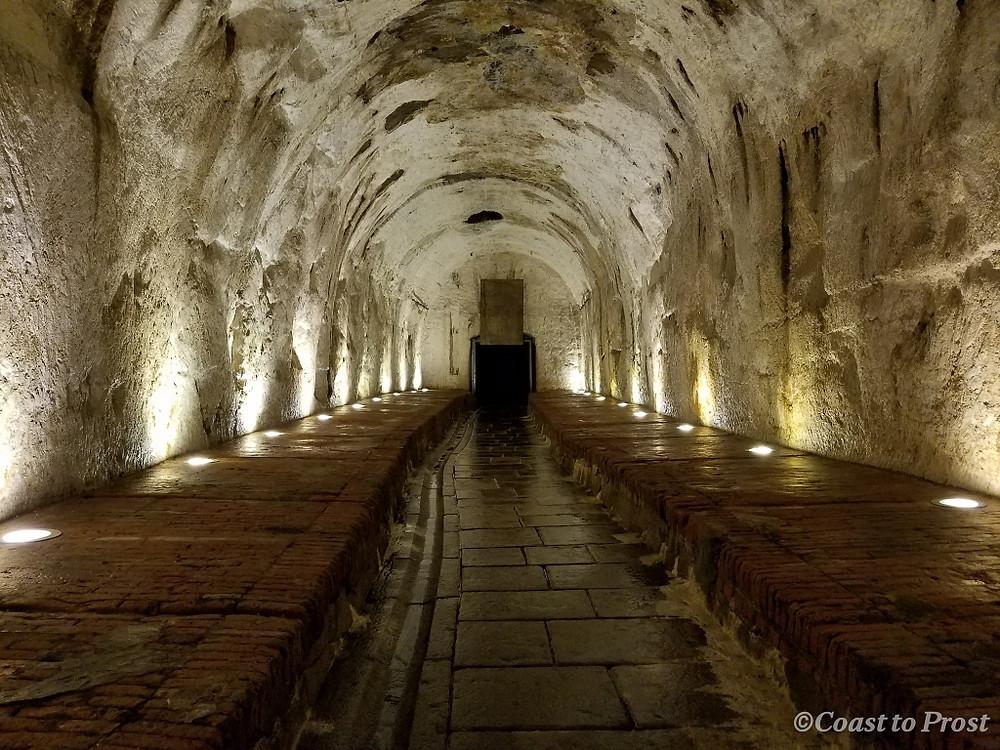 underground beer cellar
