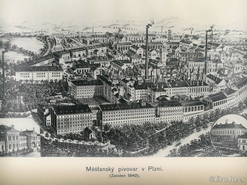 map of Plzen from 1842