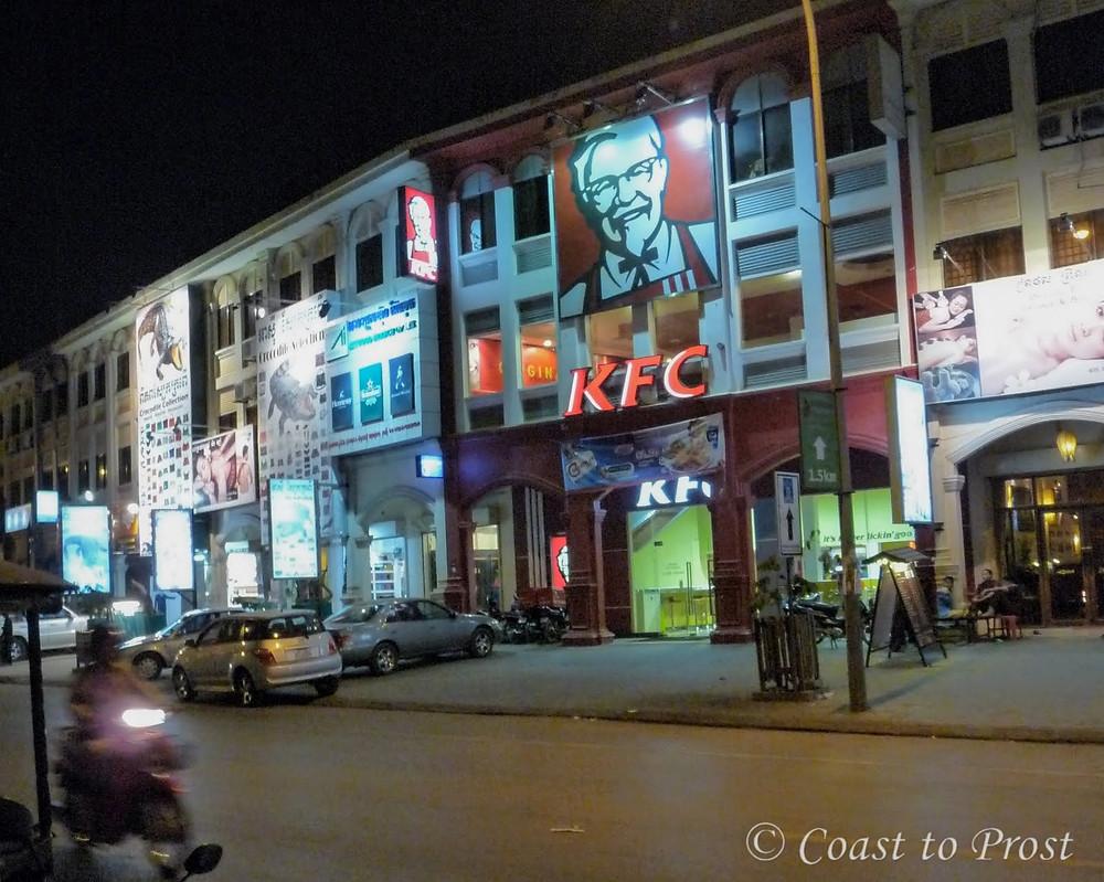 Kentucky Fried Chicken KFC restaurant Siem Reap Cambodia