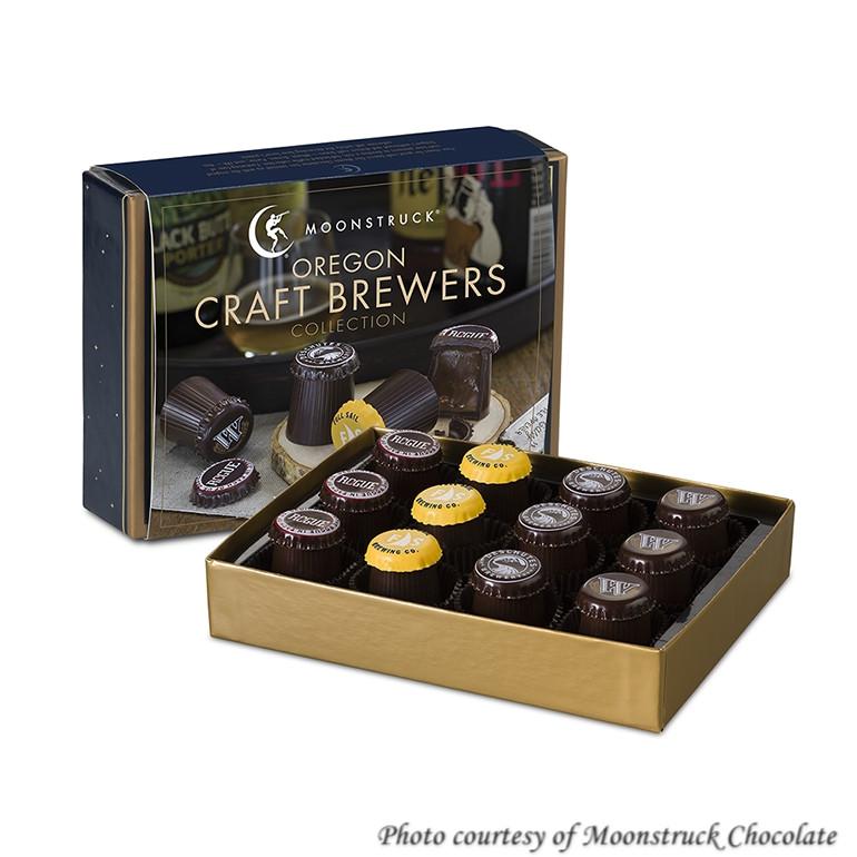 Moonstruck chocolate truffle beer gift box