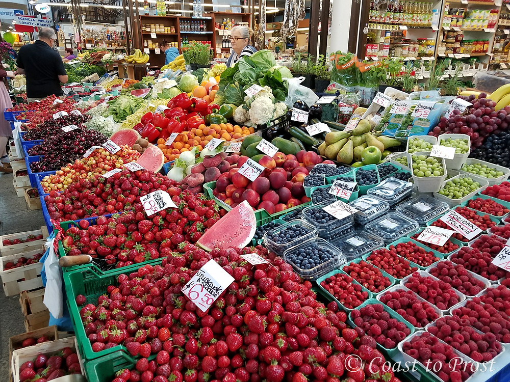fruit vegetables at market in Wroclaw Poland