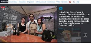 Screenshot from Prensa Libre website