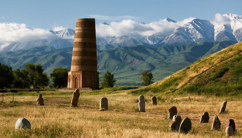 burana tower in kyrgyzstan