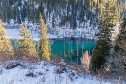 Lake Kaindy, beckons its mystery of