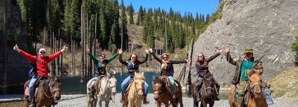 Horse ride to Kaindy Lake