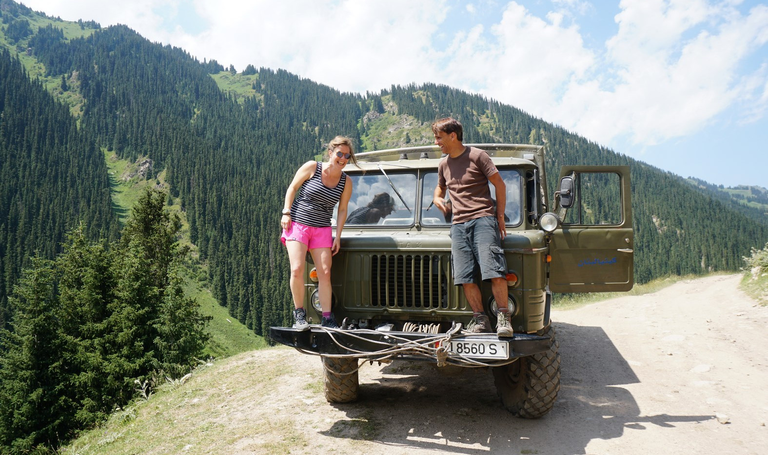 Soviet SUV-Road to Altyn Arashan