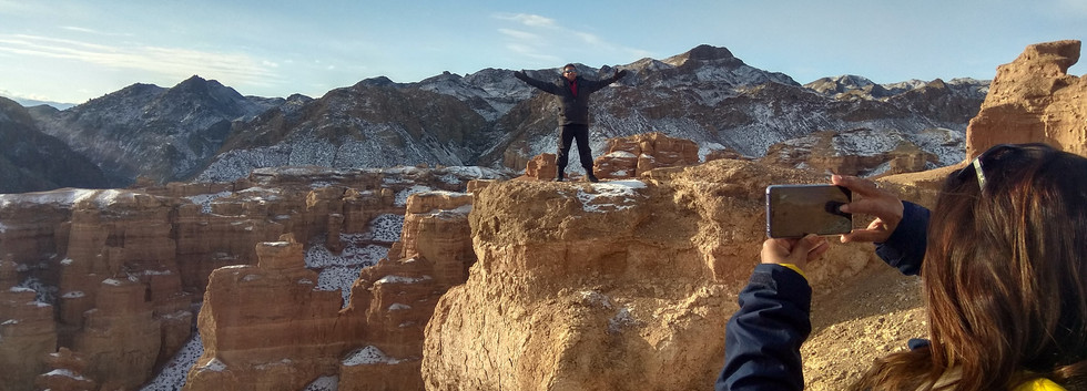 Winter tour to Charyn Canyon
