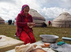 Son Kul lake Kyrgyzstan country