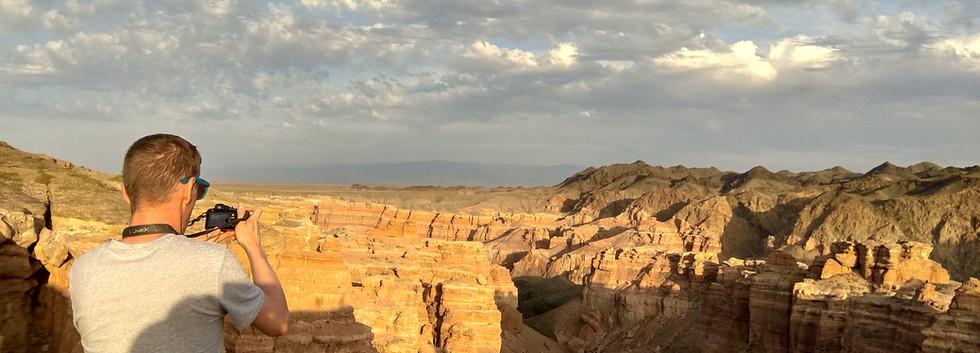Sunset at Charyn Canyon