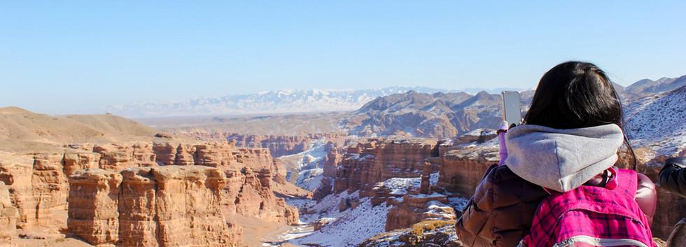 Charyn Canyon. Winter