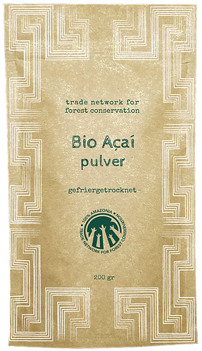 100% Amazonia Pure Organic Acai Powder 200 g | Fresh Extract | Freeze-Dried