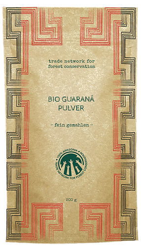 100% Amazonia Guaraná Powder Organic  - Fine Milled Seeds - 500g
