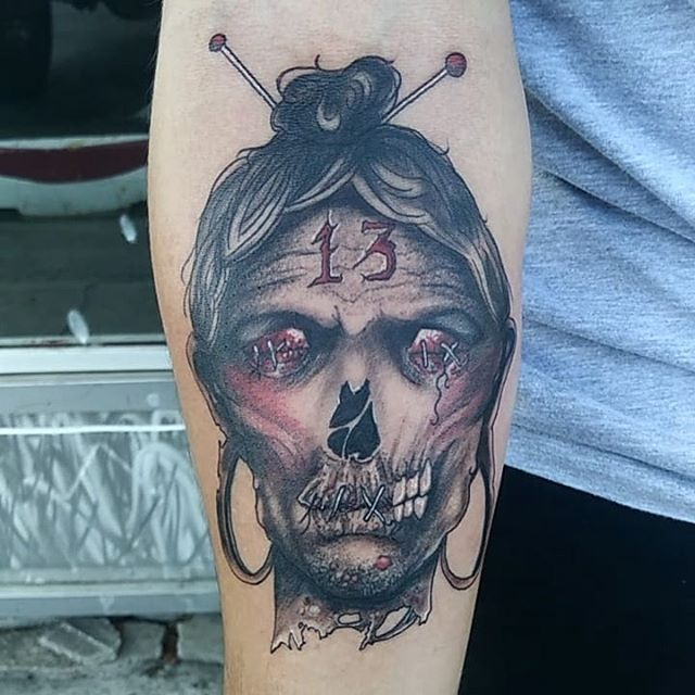 mummy head tattoo