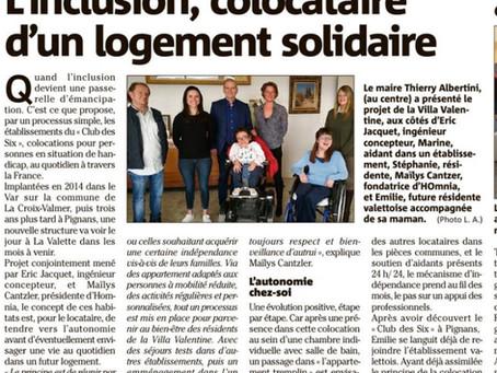 Une nouvelle colocation pour personnes en situation de handicap à La VALETTE du VAR (83)