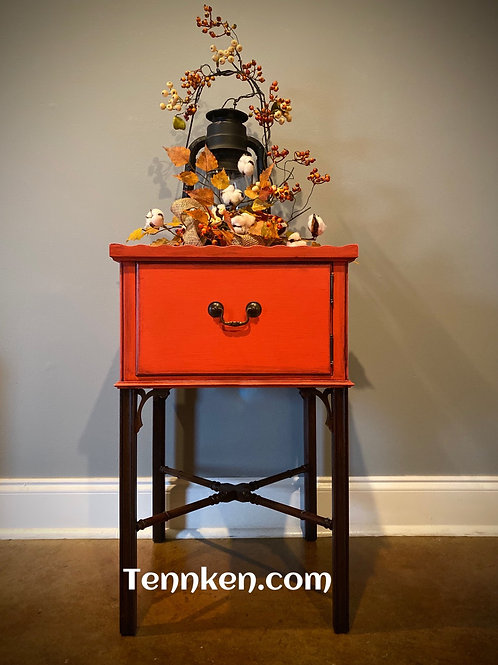 Vintage cabinet/lamp table